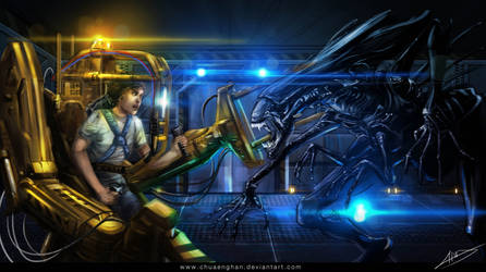 Ripley VS Queen by chuaenghan