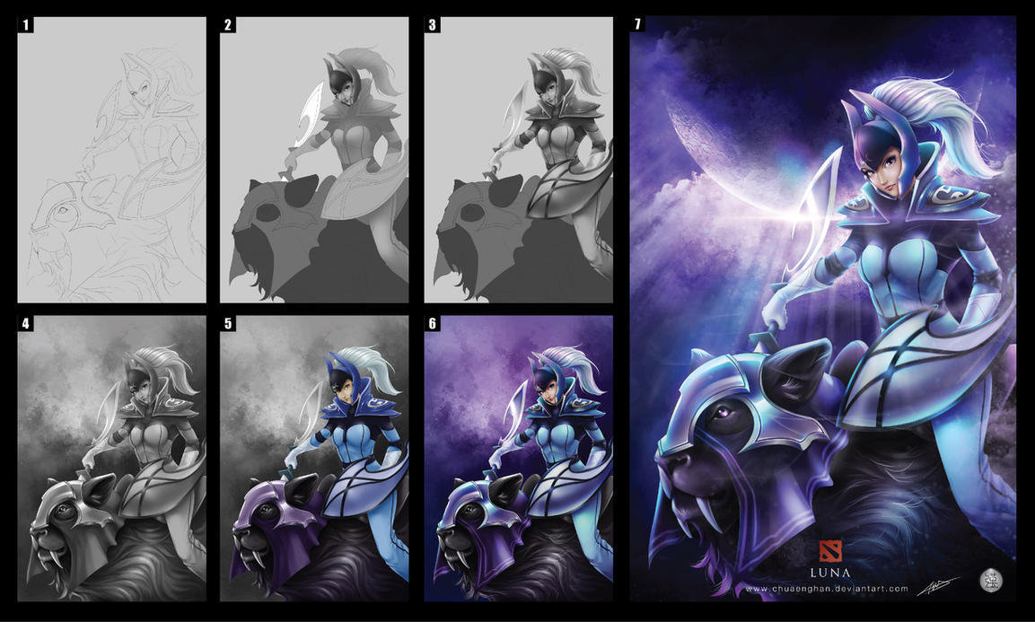 Luna Moonfang_process by chuaenghan
