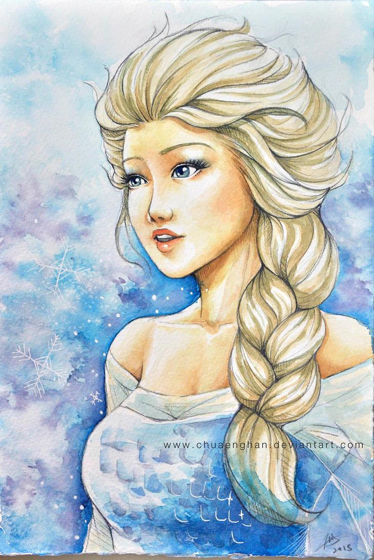 Elsa water color by chuaenghan