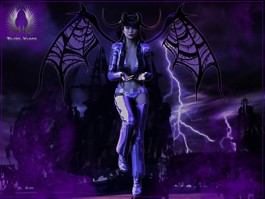 The Devil wears purple by RazielKanos
