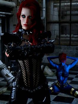 Scarlett and raven