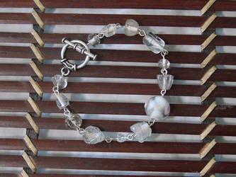 Broken Beads Need Love Too White and Silver