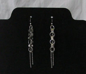 Silver Chain Earrings