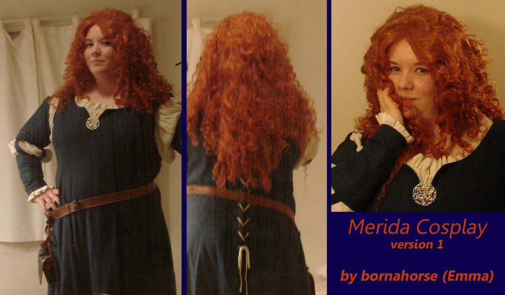 Merida Cosplay by bornahorse