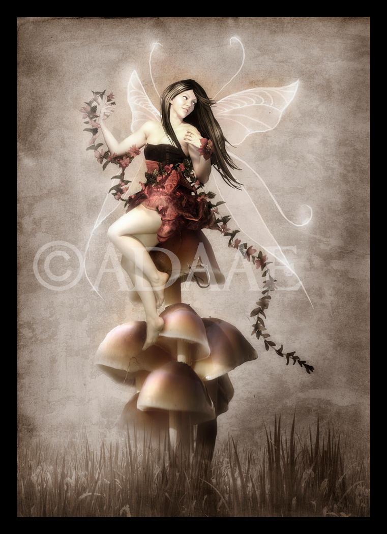 Red mushrooms by Adaae
