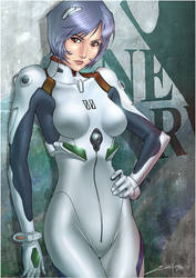 Rei Ayanami Colors by erickenji