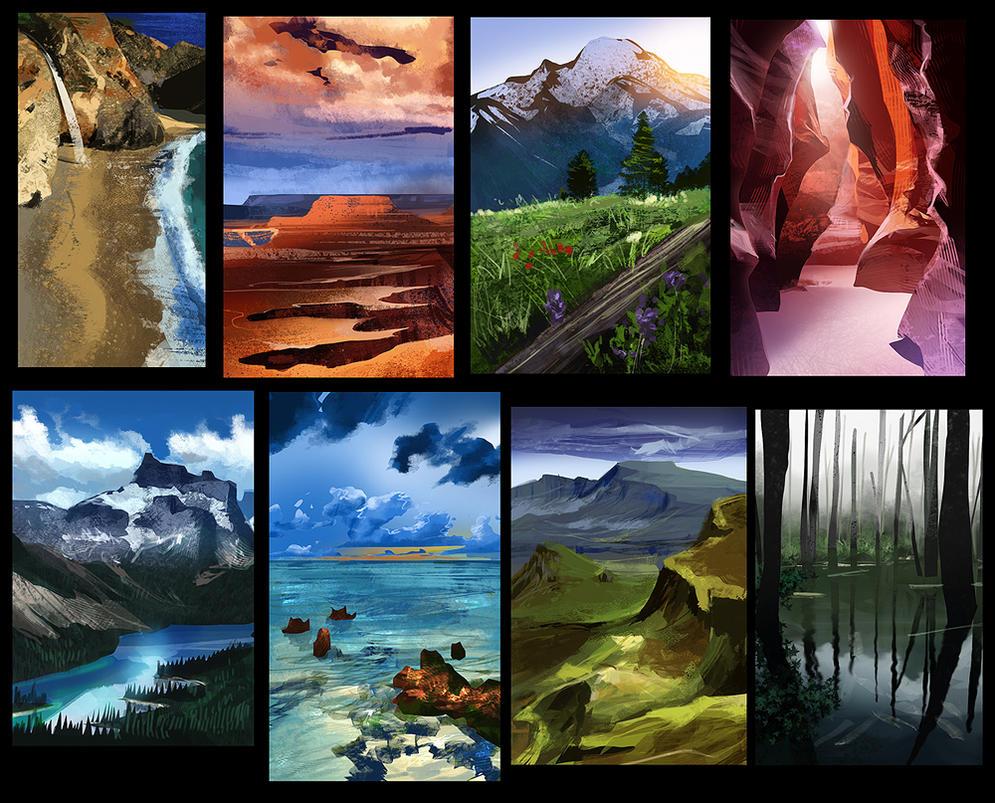 Landscape Studies 01 by erickenji