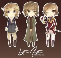 Lost In Austen - Chibis by DocileGloom