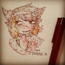 (Watercolour)edgy child that I don't post here. by NotThatPerfect