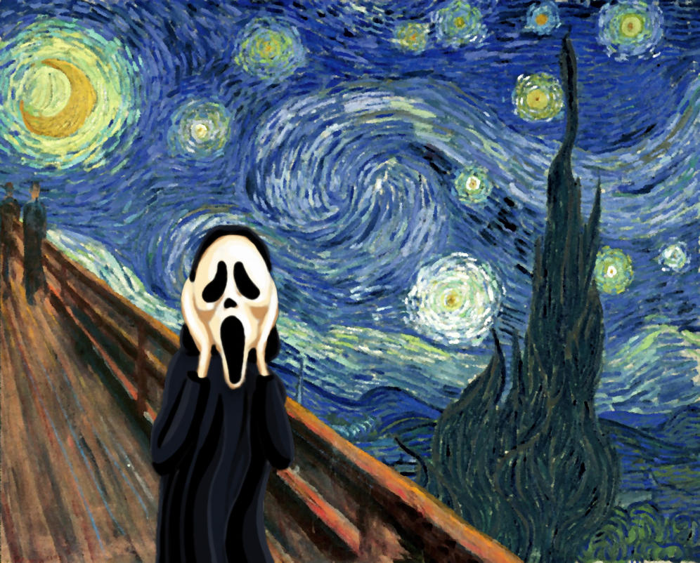 The Starry Night Scream By Mgmirkin On DeviantArt