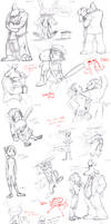 SnM Sketchdump 2 by Gingerscoffee
