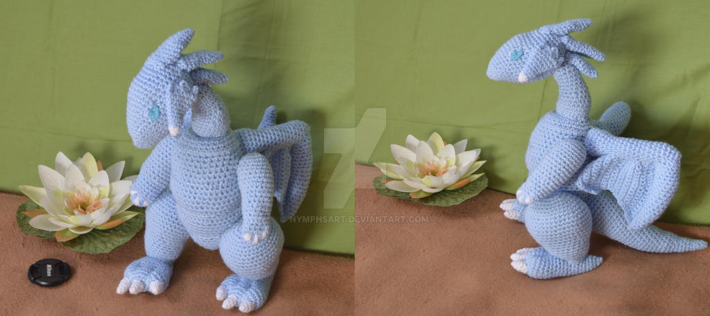 Dragon Azul Amigurumi : Blue Eyes White Dragon amigurumi by NymphsArt on DeviantArt