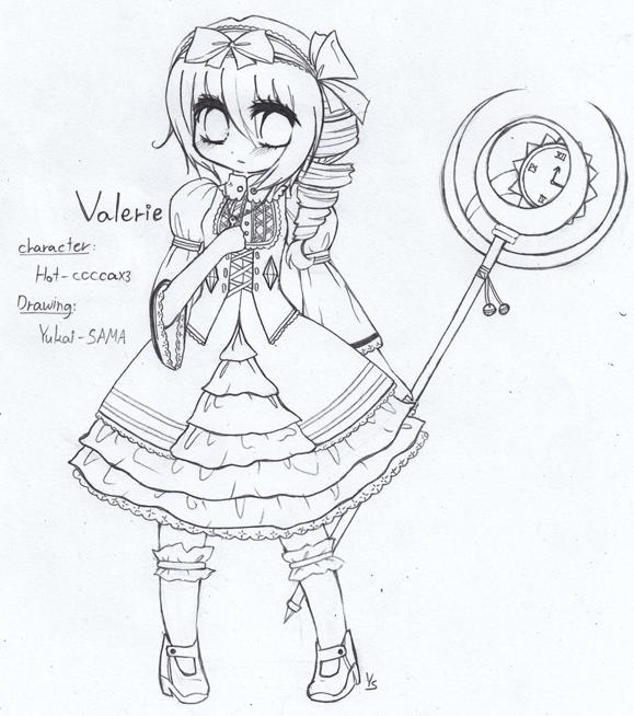 Valerie Yael's OC lineartt- by Yukai-SAMA