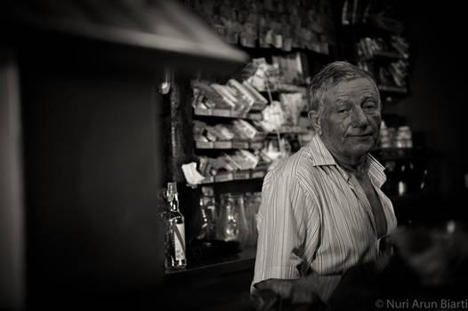 Old Man At Poncha Bar
