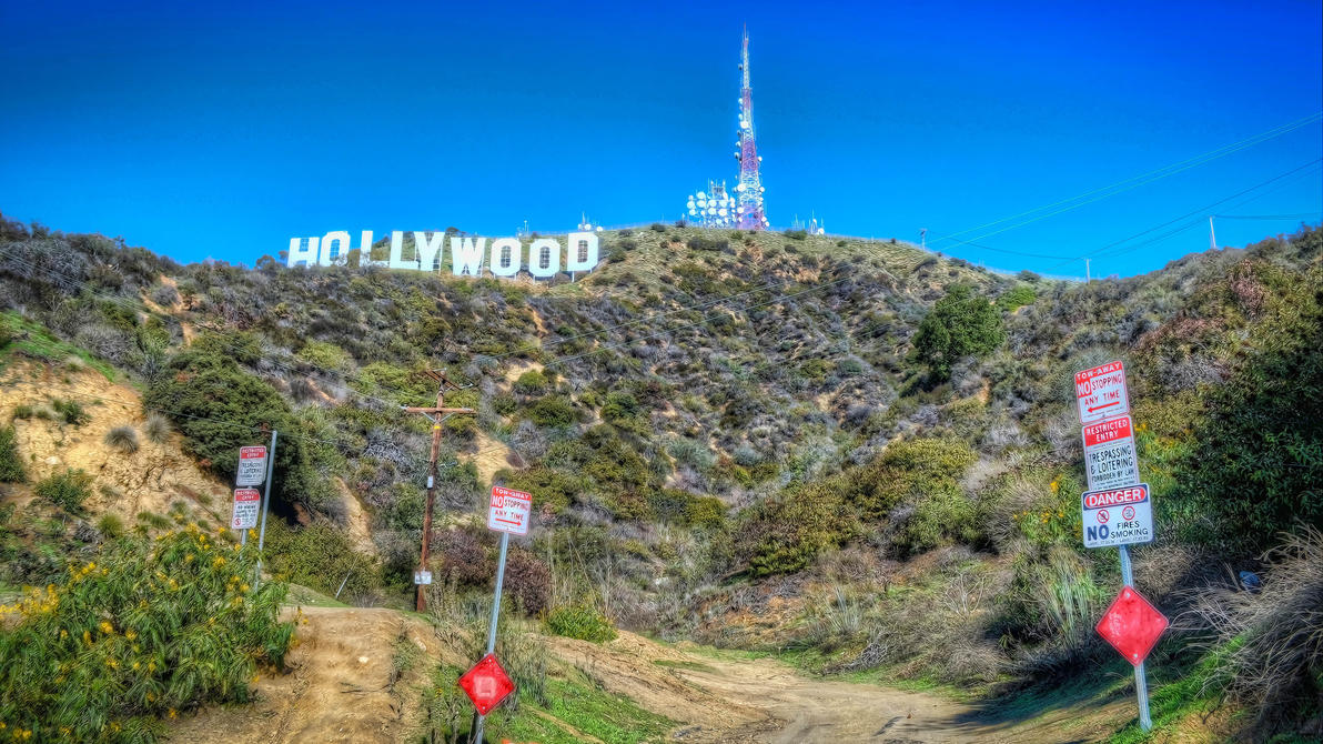 Hollywood Sign By Mikytrance