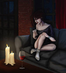 Sad Izzy -Night by suicide-blue