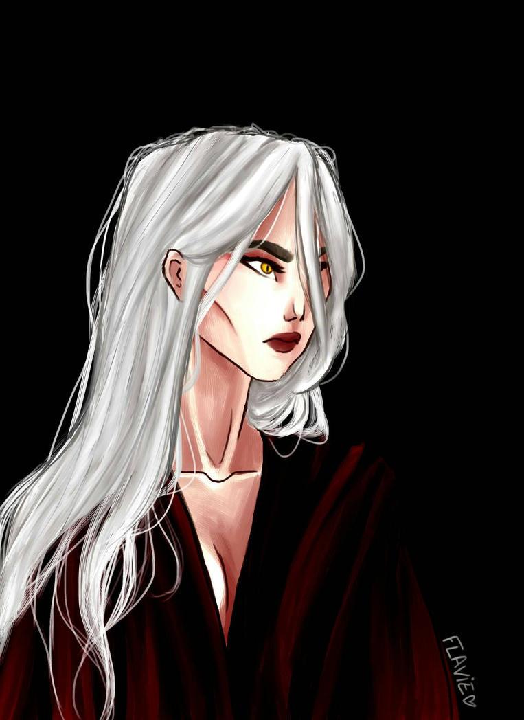 Manon Blackbeak by flaflame