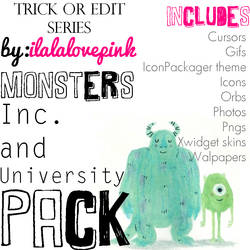 TRICK or EDIT Monsters inc. and university pack! by iheartpink-rachel
