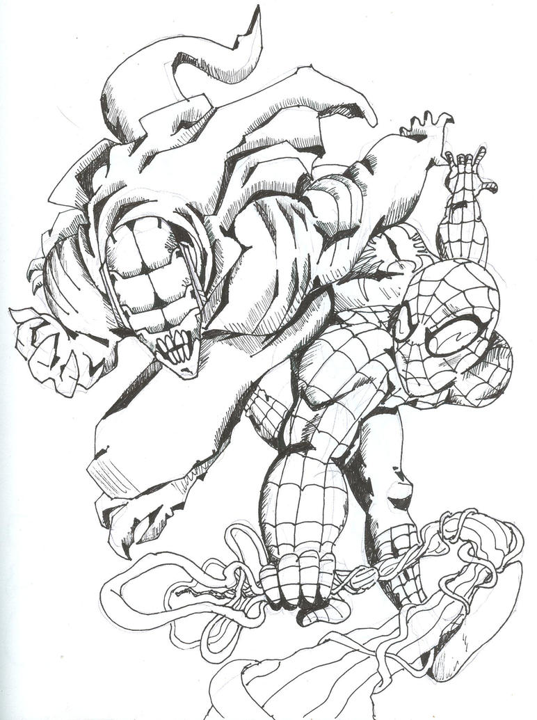 Spider man fan by die laughing on deviantart for Goblin da colorare