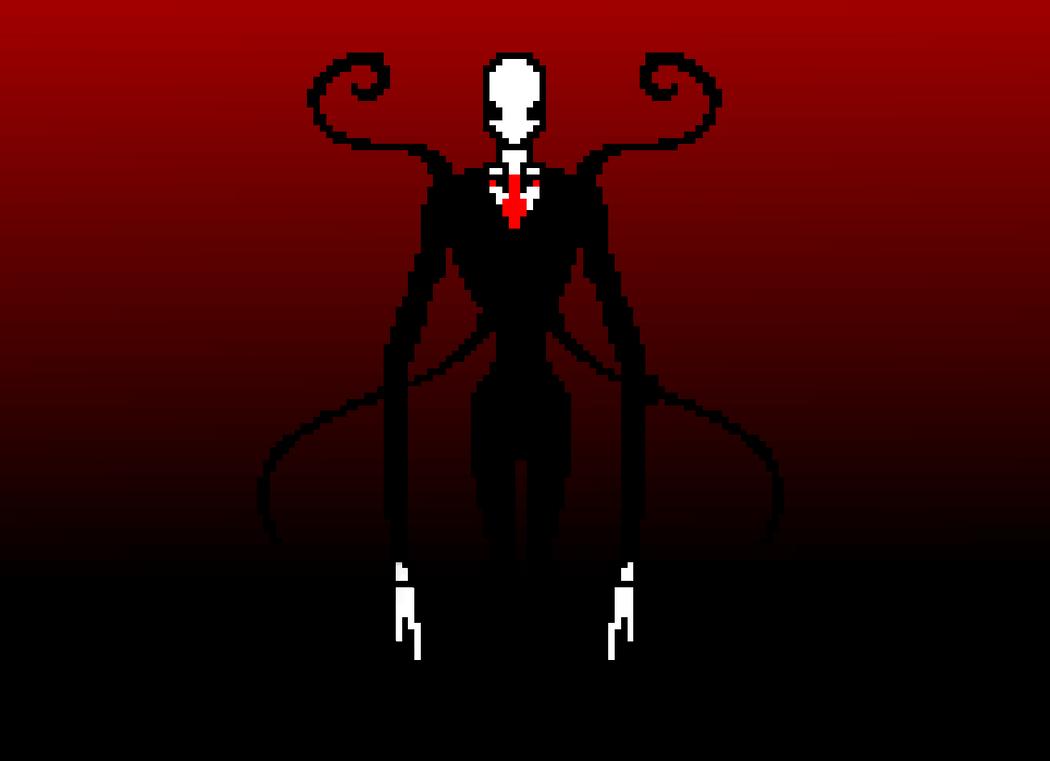 Slender Man 8-bit by Die-Laughing