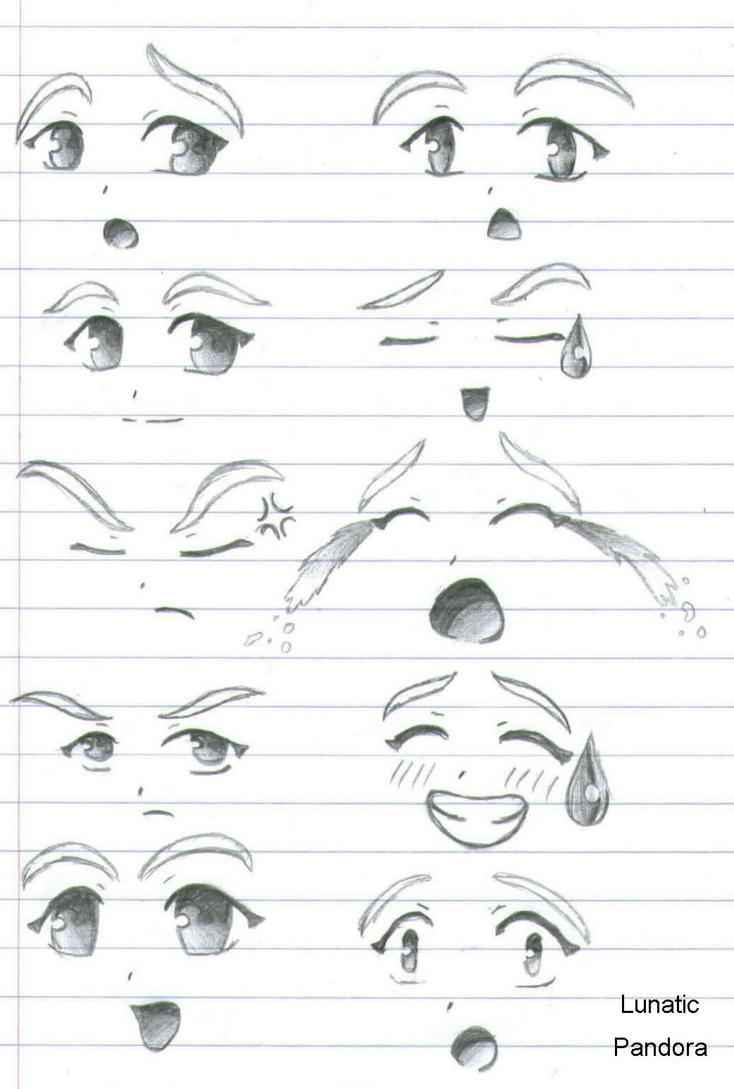 Facial Expressions by Lunatic-Pandora
