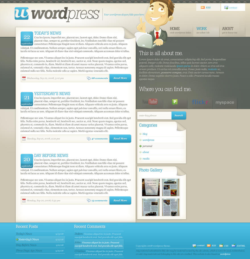Wordpress Sitemaps: Wordpress By Sinthux On DeviantArt