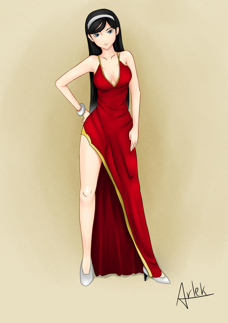 Maya's Red Dress by ArlekOrjoman
