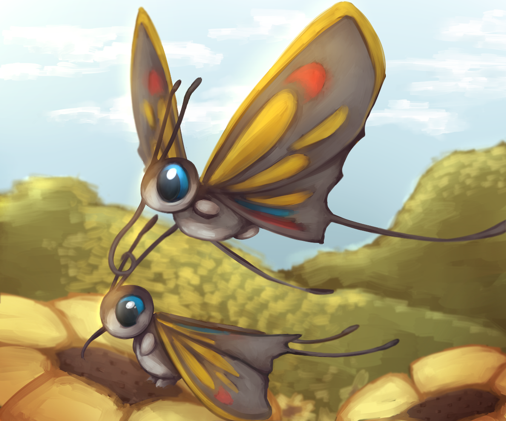 beautifly pokemon challenge 1 bug type by a psycho banana on
