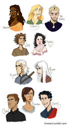 Throne of Glass Characters by compoundbreadd
