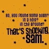 Supernatural:Dean Quote-Bugs by Clavis-Salomonis