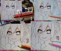 Tutorial how to coloring skin using faber castell by Sakamoto26