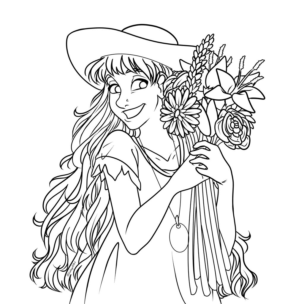 Summer Girl Coloring Page by Imagin10heart on DeviantArt