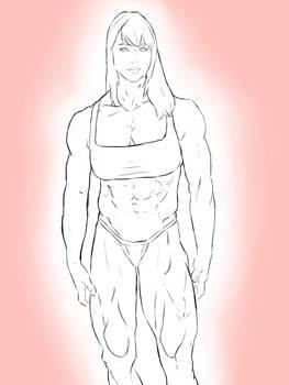 Muscular Aubrey Plaza