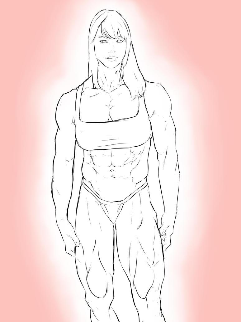 Muscular Aubrey Plaza by dr-robert420