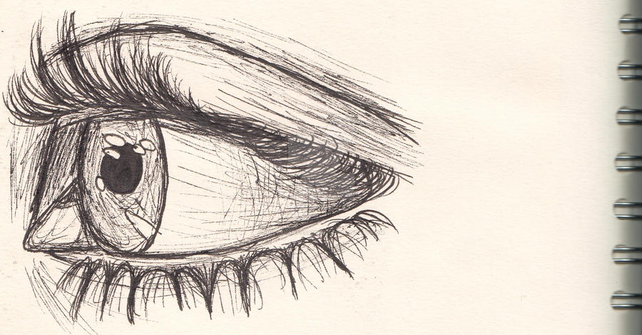 Eye sketch side face and figure by hollyvampasaurous