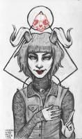 nice little satanist girl by unclepatrick