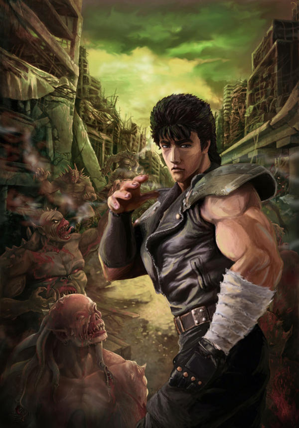 Kenshiro vs Zombies by a-thammasak