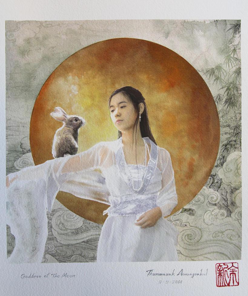 Goddess of the moon by a-thammasak
