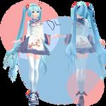 MMD - TDA plum blossom Miku DL