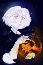 Moon Kid and Sun Fish by RamenWarrior
