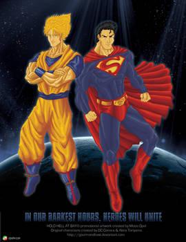 Goku and Superman - Promo Art