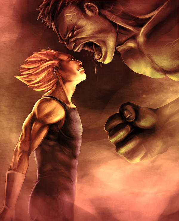 Vegeta VS Hulk by Gourmandhast