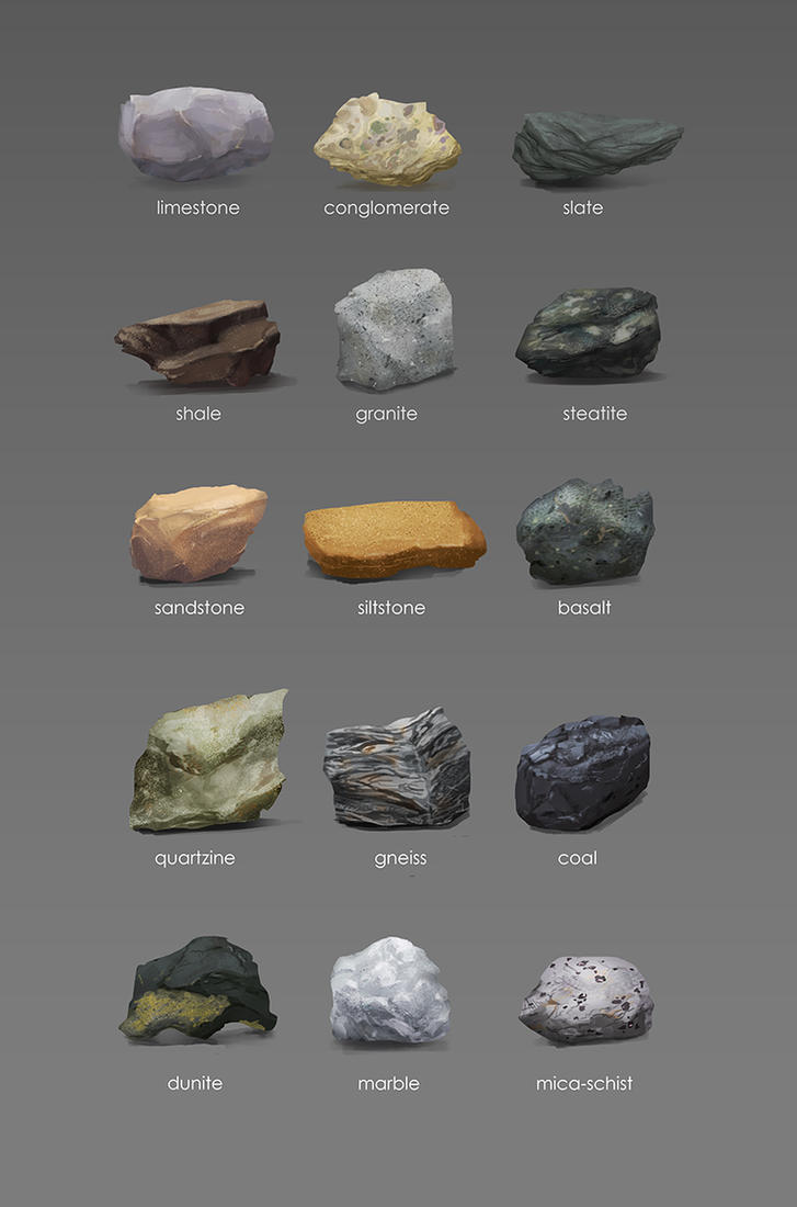 Rock studies by Gourmandhast