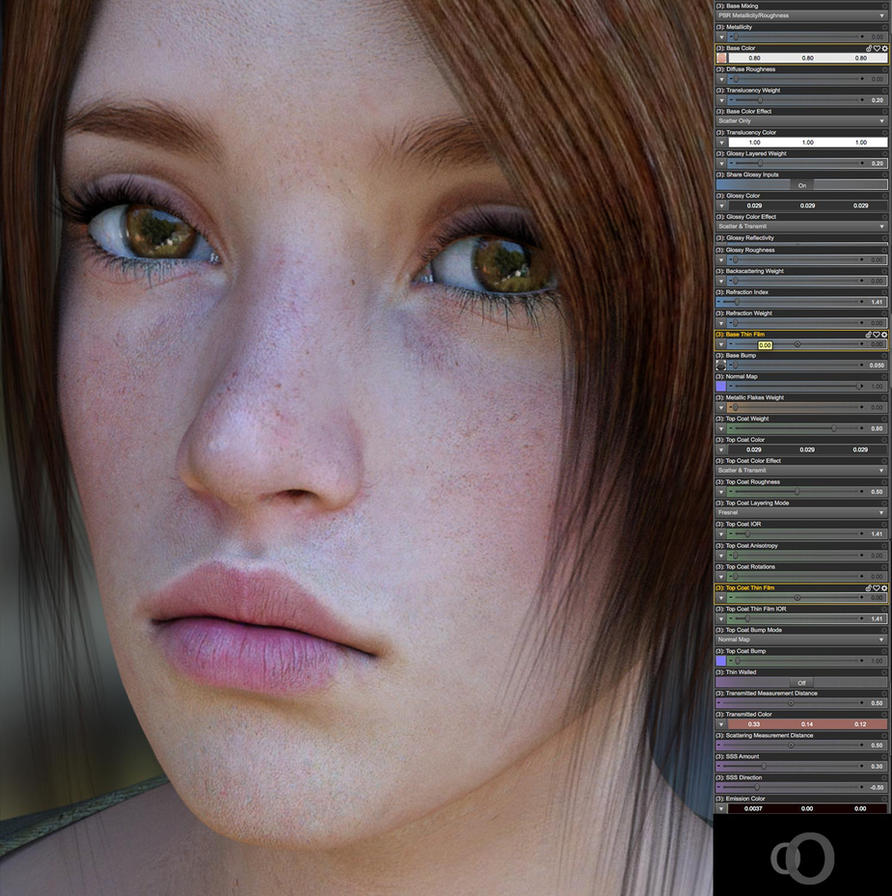 Daz3d Iray Skin Shader Settings 2 By Second Circle On