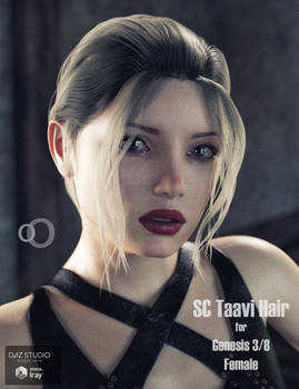 SC Taavi Hair for Genesis 3/8 Female