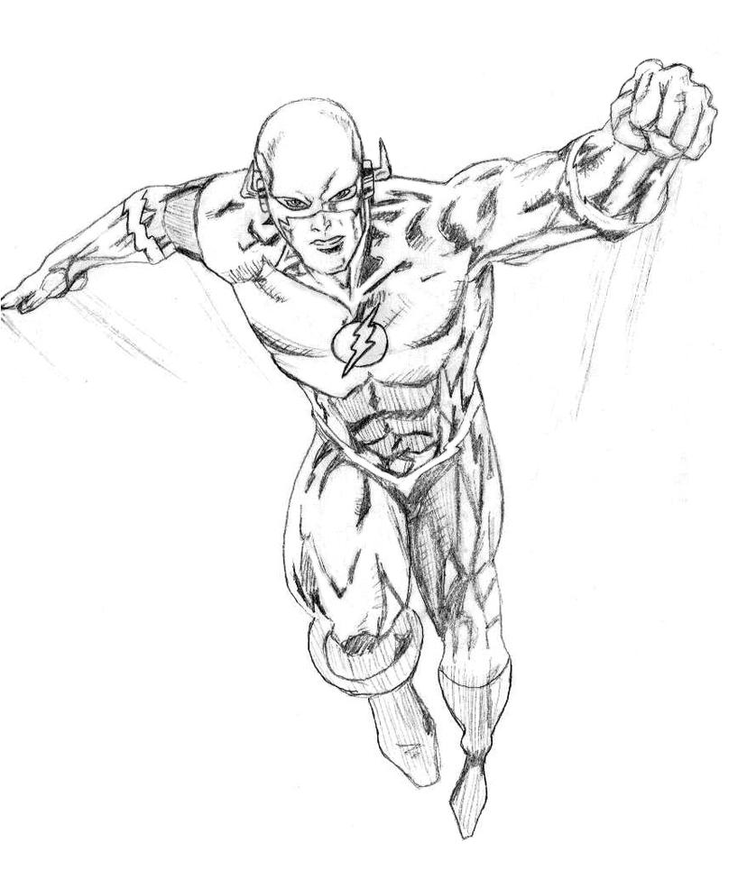 Coloring Superhero Drawings In Pencil Coloring Pages Flash Coloring Page
