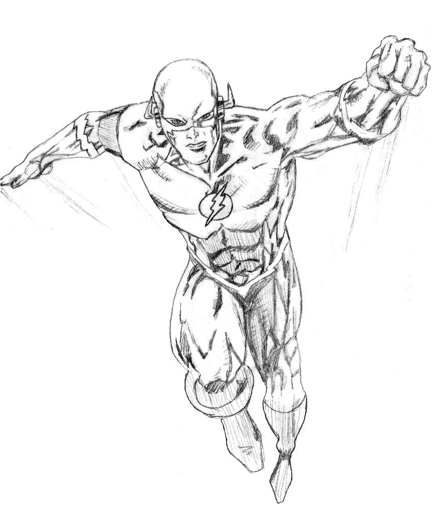 flash coloring pages marvel - photo#35
