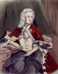 Telemann in a baroque gown
