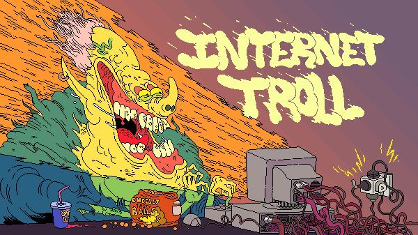 Internet Troll pixel art by bokuwatensai