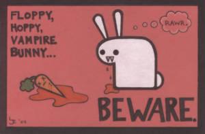 Floppy, Hoppy Vampire Bunny by ilikea